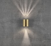 Up & Down Round LED Multi Effect Wall Light / 2 Sizes / 6 Finishes