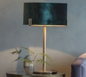 Velvet & Gold Table Lamp
