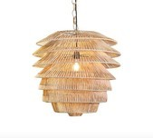 Woven Rattan Multi-Tiered Pendant / 2 Colours
