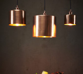 Copper Drum Pendant Light / 3 Sizes