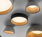 Duo Dome Ceiling Light / 2 Sizes / 3 Finishes