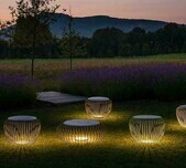 Meridiano Outdoor Floor Lamp / 2 Sizes / 3 Finishes