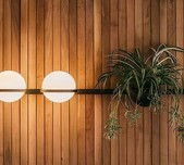 Palma Horizontal Wall & Planter Light / 4 Selections / 2 Finishes
