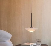 Tempo Angular Opaline Pendant / 2 Sizes / 4 Finishes