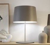 Warm Table Lamp / 2 Sizes / 4 Finishes