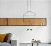 Wireflow Square Pendant Lamp / 5 Sizes