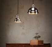 Bourke - Antique Silver and Brass Pendant Light