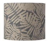Fern Leaves Wild Grey Glitter / Drum Lampshade