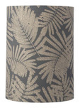 Fern Leaves Wild Grey Glitter / Cylinder Lampshade