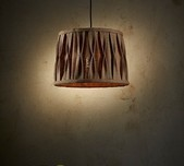 Jute Pleated Drum Pendant Light