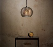 Mercury - Perforated Ball Pendant Light - Nickel