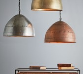 Riveted Pendant Light / 3 Sizes / 3 Finishes
