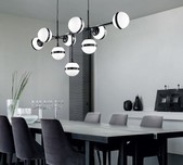 Peggy 9 Light Pendant / 2 Finishes