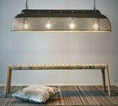 Perforated Extra Long Island Pendant / 5 Finishes