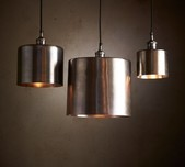 Silver Drum Pendant Light / 3 Sizes